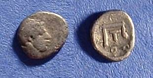 Ancient Coins - Thourioi Lucania obol Circa 350 BC - Uncommon Type