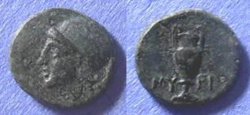 Ancient Coins - Myrina, Aiolis Circa 200 BC, AE11