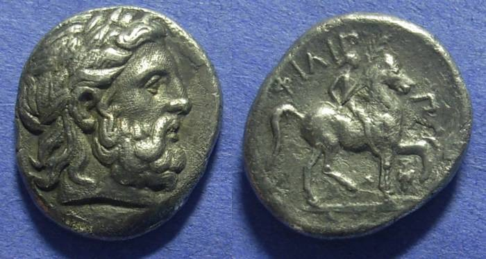 Ancient Coins - Macedonian Kingdom Philip II 359-336BC Tetradrachm