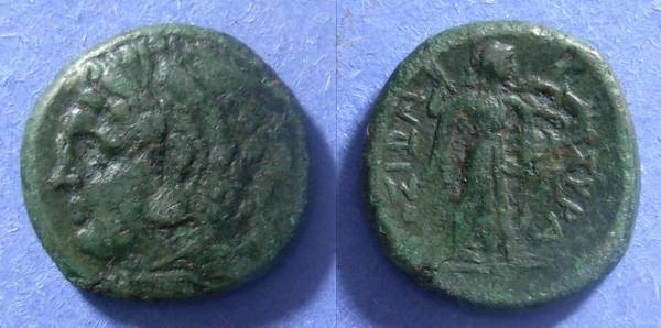 Ancient Coins - Syracuse Sicily, Pyrrhus 278-6 BC, AE23