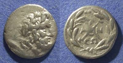 Ancient Coins - Achaian League, Antigoneia Arkadia 188-180 BC, Hemidrachm