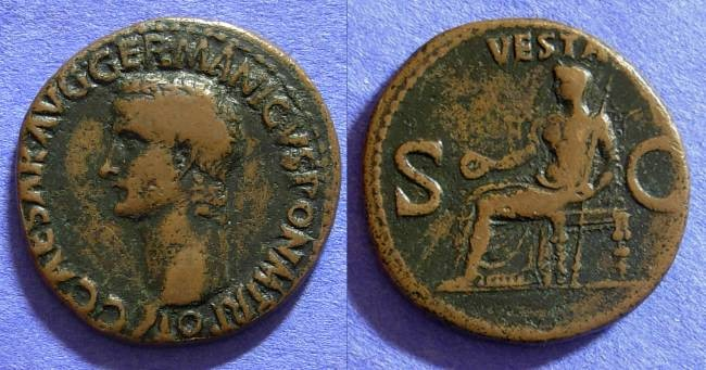 Ancient Coins - Caligula 37-41AD - Aes