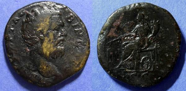 Ancient Coins - Roman Empire, Clodius Albinus 193-5, Sestertius