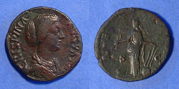 Ancient Coins - Crispina (Wife of Commodus) d. 183 Sestertius