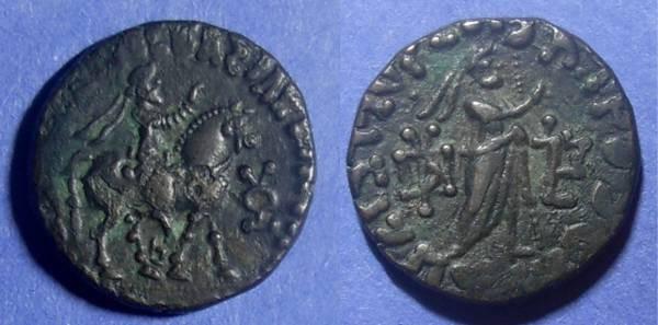 Ancient Coins - Indo Parthian, Abdagases 5BC -19AD, Tetradrachm