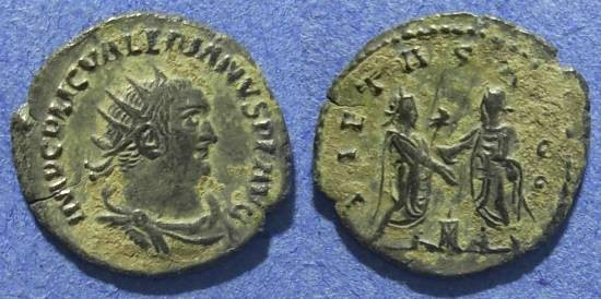 Ancient Coins - Roman Empire, Valerian 253-260 AD, Antoninianus