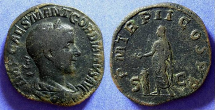 Ancient Coins - Gordian III 238-244 Sestertius