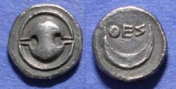 Ancient Coins - Thespiai, Boeotia Circa 350 BC, Obol