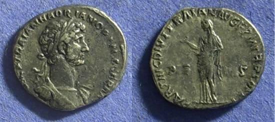 Ancient Coins - Hadrian 117-138 Denarius – scarce accession type