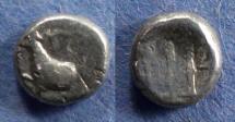 Ancient Coins - Thrace, Byzantion 387-340 BC, Hemidrachm