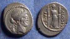 Ancient Coins - Roman Republic, P Clodius M f Turrinus 42 BC, Silver Denarius