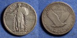 Us Coins - United States,  1924-S, Silver Standing Liberty Quarter