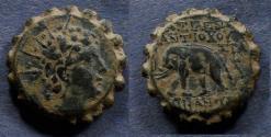Ancient Coins - Seleucid Kingdom, Antiochos VI 145-142 BC, AE22