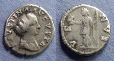 Ancient Coins - Roman Empire, Faustina Jr 147-175, Denarius