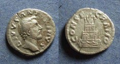 Ancient Coins - Roman Empire, Divo Antoninus Pius d. 161, Denarius