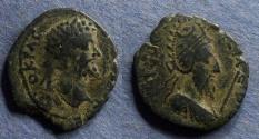 Ancient Coins - Mesopotamia, Edessa, Septimius Severus with Abgar VIII 193-211, AE21