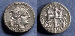 Ancient Coins - Roman Republic, M Marcius Mn f 134 BC, Denarius