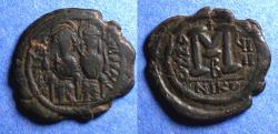 Ancient Coins - Byzantine Empire, Justin II 565-578, Bronze Follis
