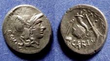 Ancient Coins - Roman Imperatorial, T Carisius 46 BC, Denarius