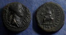 Ancient Coins - Phrygia, Eumeneia, Agrippina Jr 50-59, AE16