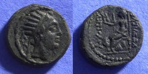 Ancient Coins - Antiochos IV 175-164 BC - AE 15 ( Chalkous )