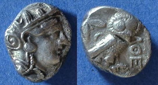 Ancient Coins - Athens Attics - Tetradrachm circa 393-300 BC