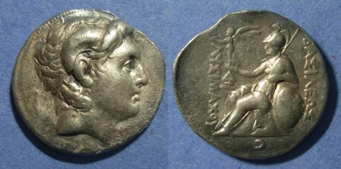 Ancient Coins - Kingdom of Thrace, Lysimachos 305-281, Tetradrachm
