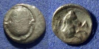 Ancient Coins - Boeotia, Tanagra Circa 350 BC, Obol