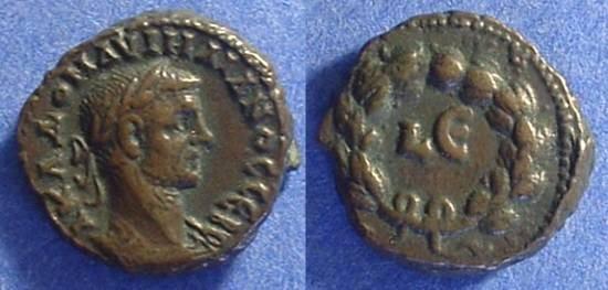 Ancient Coins - Roman Egypt - Aurelian 270-275- Potin Tetradrachm