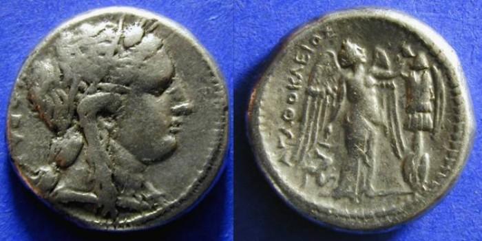 Ancient Coins - Syracuse Sicily - Agathocles 317-289 BC Tetradrachm