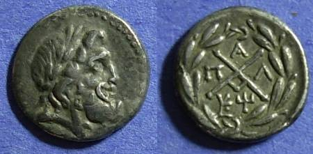 Ancient Coins - Achaean League, Pallantion (Arkadia) 196-146 BC, Hemidrachm