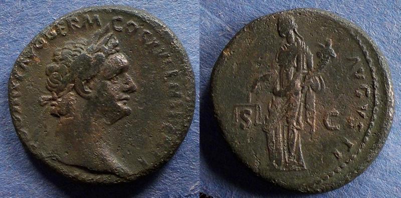 Ancient Coins - Roman Empire, Domitian 81-96, Aes
