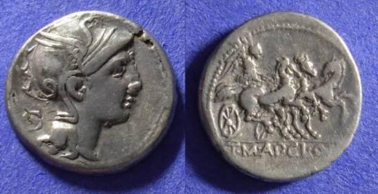 Ancient Coins - Roman Republic - Denarius 111-110 BC - Mallia 2