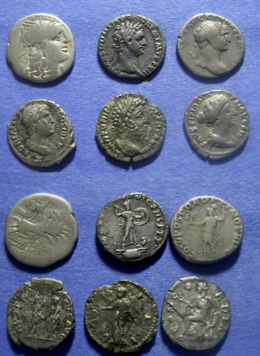 Ancient Coins - Roman Misc  Denarii lot