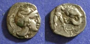 Ancient Coins - Taras, Calabria 280-228 BC, Diobol