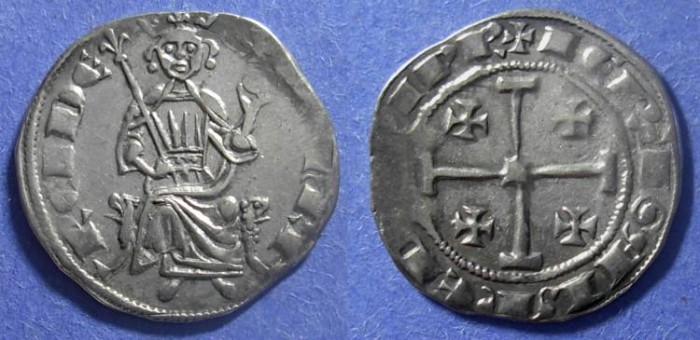 Ancient Coins - Crusader Cyprus, Henry II (2nd Reign) 1310-24, Gros