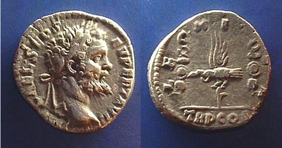 Ancient Coins - Septimius Severus, 193-211 AD, Legion XI CL denarius