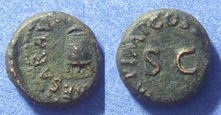 Ancient Coins - Claudius 41-54AD Quadrans