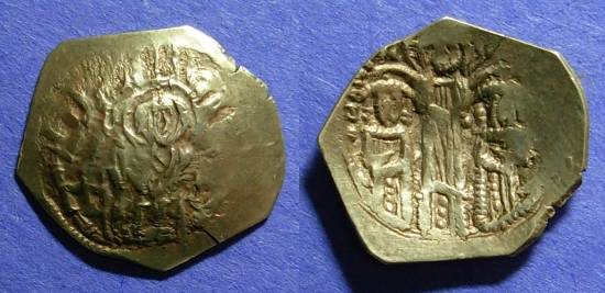 Ancient Coins - Byzantine Empire, Andronicus II and Michael IX 1295-1320, Hyperpyron