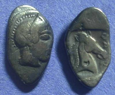 Ancient Coins - Pharsalos Thessaly: Hemidrachm circa 450 BC