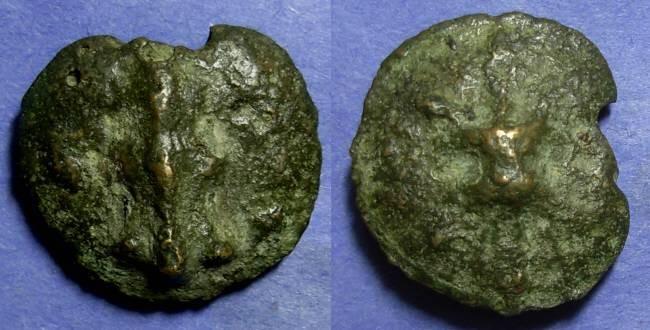 Ancient Coins - Luceria, Apulia Circa 220 BC, Quincunx