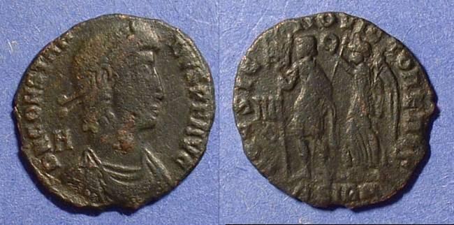Ancient Coins - Constantius II 337-361 - Centenionalis w/ Hoc Signo Victor Eris reverse