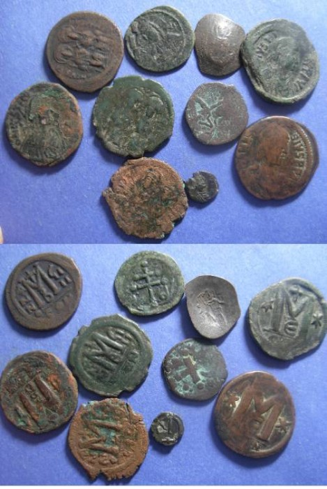 Ancient Coins - 10 Byzantine AE