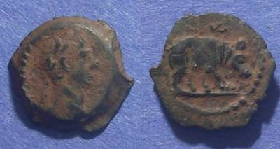 Ancient Coins - Roman Egypt, Trajan 98-117 AD, Dichalkon