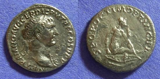 Ancient Coins - Trajan 98-117AD – Denarius