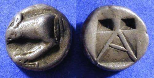 Ancient Coins - Argos - Hemidrachm - Circa 450 BC