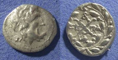 Ancient Coins - Achaian League, Patrai Achaia 88-30 BC, Hemidrachm