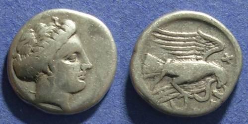 Ancient Coins - Euboea, Chalkis 338-308 BC, Drachm