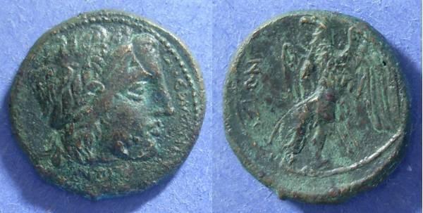 Ancient Coins - Syracuse Sicily, Hiketas 288-79 BC, AE24