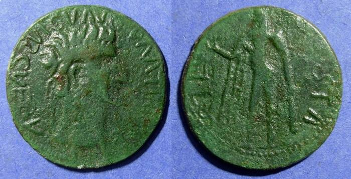 Ancient Coins - Roman Empire, Claudius 41-54 AD, Imitative sestertius